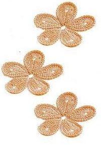 Patrón #1407: Flor a Crochet ~ CTejidas [Crochet y Dos Agujas]