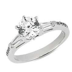 Diamond Engagement Ring Mounting from Scoville Jewelers.