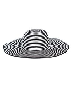 Simply beachy! Loving this Black & White Stripe Straw Sunhat