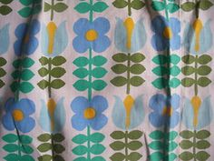 Vintage 60s fabric - similar to Lucienne Day's Print of 1965, 'High Noon'