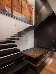 Stairs in Dominant modern mansion by GLR Arquitectos Escalier Design, Modern Stairs, Contemporary Stairs, Modern Contemporary Homes, Small Modern Home, Modern Style Homes, Modern Bungalow, Modern Interior, Modern Design