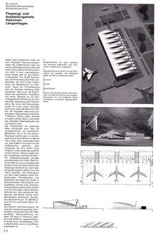 Bauen + Wohnen, Flugzeughangar Hannover, Vol. 16 (1962)
