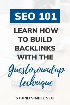 Simple SEO tips for bloggers on how to build backlinks to your blog and increase your domain authority by using guest posting. Learn about the guestoroundup technique and ultimately increase blog traffic. Grab your free email swipe file for guest post outreach with free video training. #searchengineoptimization #seotips #contentmarketing Seo Marketing, Marketing Digital, Marketing Strategies, Affiliate Marketing, Seo Guide, Seo Tips, Seo Optimization, Search Engine Optimization, Google Traffic