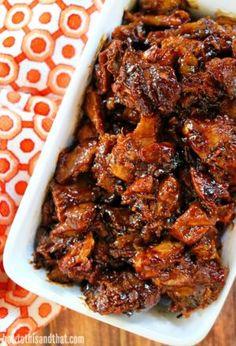 Slow Cooker Pork- Sweet & Spicy Brown Sugar on MyRecipeMagic.com