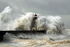 lighthouse in storm - Google Search