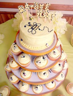 Cute Bee Cake For Baby Shower #fooddecoration, #food, #cooking, https://facebook.com/apps/application.php?id=106186096099420