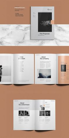 Want to send a business proposal or project proposal to prospective client? This 20 page Professional Business Proposal Template is the best suitable choice to Free Business Proposal Template, Proposal Templates, Project Proposal Template, Magazine Layout Design, Book Design Layout, Magazine Layouts, Cute Text, Graphic Design Brochure, Brochure Layout