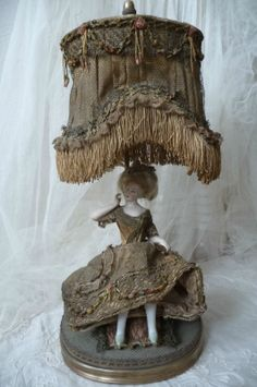 Dressel Kister RARE Antique Doll Bisque Lamp Fashion Lady Edwardian C 1900