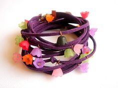 Leather Wrap Purple Bracelet by accessory8 on Etsy, $20.00
