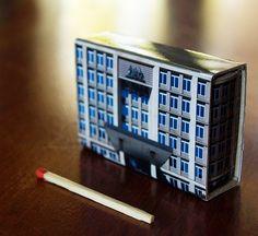 Matchbox Building: Matchbox Miniature of The Treasury Building, Canberra, Australia.