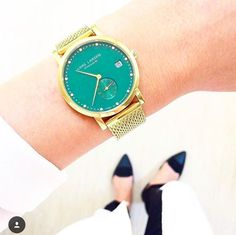 Black and White with an edge ✨ #LW37 #emerald www.larsenwatches.com