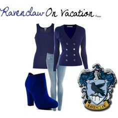 """""""Ravenclaw On Vacation [in Paris]"""" by nearlysamantha on Polyvore"""