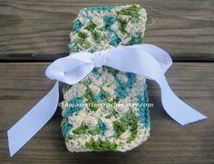 Wash Cloth, Eco Friendly Cotton Emerald #Green, #crochet #handmade by Moomettes Crochet
