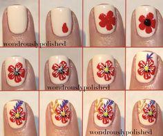Floral Nail Art Tutorial - Fashion Diva Design