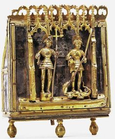 Reliquiario dei Santi Maurizio e Giorgio, 1445-1452, legno e argento dorato, Chiesa di San Pantaleone