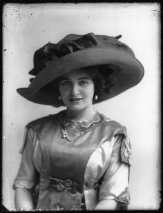 Hats from Edwardian era; all photographs dated 1911