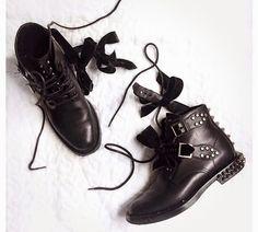 SAINT LAURENT Rangers Studded Leather Boots | 2015 Women's Shoes - SPENTMYDOLLARS | Fashion Trends, Shoes, Bags, Accessories for Men & Women