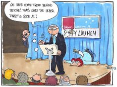 Kevin Rudd at the party launch.