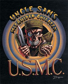 USMC didn't stand for this when @Rick Swift was in, it was U. S.igned the M.uthereffen C.ontract!  But Rick does own this shirt - Errrrr