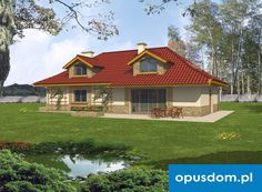 Sadyba - projekt domu 106,4m2 + garaż - autorstwa Pracowni Opus - www.opusdom.pl Houses, How To Plan, Mansions, House Styles, Home Decor, Homes, Decoration Home, Manor Houses, Room Decor