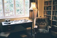 C. S. Lewis's writing desk in his Oxford home, The Kilns.