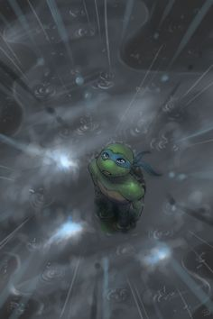 "TMNT_Light through clouds by *HearteaterC on deviantART ""Even innocence can grieve. Teenage Ninja Turtles, Ninja Turtles Art, Ninja Turtles Shredder, Turtles Forever, Tmnt Leo, Leonardo Tmnt, Tmnt 2012, Turtle Love, Fan Art"