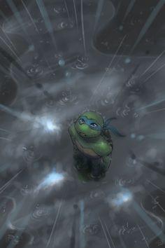 "TMNT_Light through clouds by *HearteaterC on deviantART ""Even innocence can grieve. Ninja Turtles Shredder, Ninja Turtles Art, Teenage Mutant Ninja Turtles, Tmnt Leo, Leonardo Tmnt, Turtle Love, Tmnt 2012, Fan Art, Comic Character"