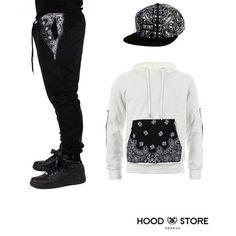 Outfit of the day! Bandana Jogger / Bandana snapback / Bandana hoodie. Order now : www.thahandmade.com Follow @hoodstore for more infos. #hoodstorege #Padgram