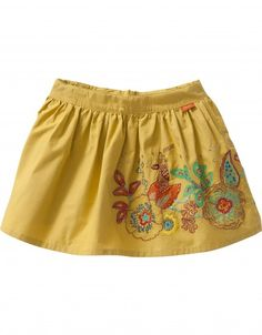 This special skirt is completed with detailed and colorful embroidery. The skirt has an adjustable waistband.