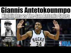 Sports Highlights - Last night the Milwaukee Bucks took on the San Antonio Spurs and we have the Giannis Antetokounmpo highlights Rick James, Sports Highlights, Milwaukee Bucks, San Antonio Spurs, Tank Man, Baseball Cards, Music, Youtube, Muziek