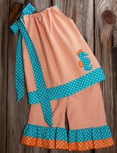 LOVE the teal and orange together?!! Lolly Wolly Doodle One of my summertime favorites!