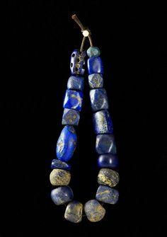 "wasbella102: "" Ancient lapis lazuli beads """