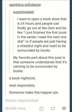 Books calm me down