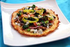 Hybrid pizza ~ Low Carb - For a personal single pizza. Whole recipe is 8 carbs (crust only) On this recipe page there are links to other pizzas.lots of pizzas ;) also great ideas in comment section - love to see what others are doing with their pizzas! Primal Recipes, Low Carb Recipes, Real Food Recipes, Great Recipes, Favorite Recipes, Healthy Recipes, Paleo Ideas, Interesting Recipes, Unique Recipes