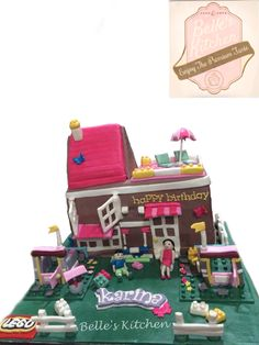 Lego House Cake By Belle's Kitchen, To Order Contact Our WA: 081294055786, Line: Bellekitchen Also Be Sure To Follow Our Instagram @belle_kitchen