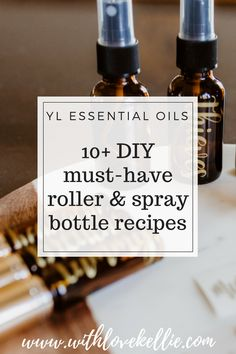Essential oils roller and spray bottle recipes