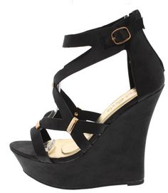 LUCINDA BLACK CUTE WEDGES ONLY $10.88. . All womens shoes, heels, wedges, sandals, and flats are $10.88 a pair.