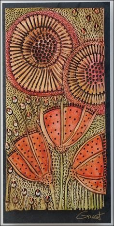 Vertical Slate and Clay Floral by Vicki Grant at the Hunter-Wolff Gallery in Colorado Springs Colorado Graffiti, Indigenous Art, Aboriginal Art, Rug Hooking, Embroidery Art, Fabric Art, Clay Art, Ceramic Art, Textile Art