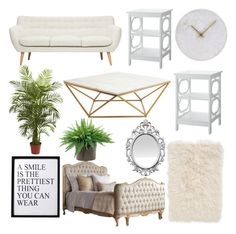 """My Dream Bedroom ( Edition 1 )"" by arushipatil ❤ liked on Polyvore featuring interior, interiors, interior design, home, home decor, interior decorating, Nuevo, Convenience Concepts, Nordstrom and 3R Studios"