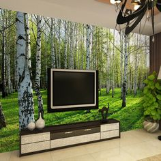 Cheap wallpaper mural, Buy Quality wallpaper roll directly from China wallpaper for baby room Suppliers: Custom Wall Mural Wall Paper Natural Landscape Photo Wallpaper Birch Murals Bedding Room TV Background Wallpaper On The Wall 3D
