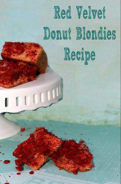 Red Velvet Donut Blondies Recipe