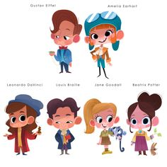 Cute Cartoon Girl, Cartoon Kids, Character Design Animation, Character Design References, Kid Character, Character Drawing, Children's Book Illustration, Character Illustration, Children's Book Characters