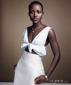 Breathtaking: Lupita Nyong'o stunned in a series of elegant outfits in a photo spread for DuJour magazine