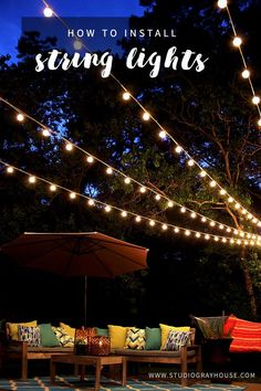 String Patio Lights Inspiration Hanging Outdoor Party Lights  Pinterest  Initials Easy And Lights