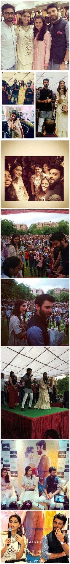 Khoobsurat Diairies: Sonam Kapoor & Fawad Khan create mass frenzy in Jaipur.