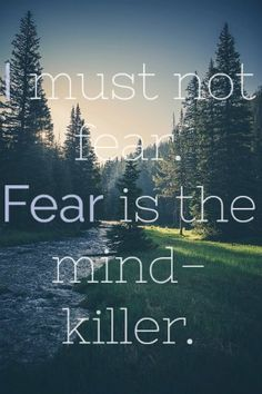 """I must not fear. Fear is the mind-killer. Fear is the little-death that brings total obliteration. I will face my fear. I will permit it to pass over me and through me. Bible Verses About Fear, Bible Verses Quotes, Quotes About God, Fear Quotes, True Quotes, Christian Life, Christian Quotes, Christian Movies, Ways To Be Happier"