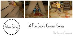 Pillow Party: 10 Fun Movement #Games to Play With Couch Cushions! - The Inspired Treehouse