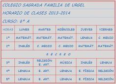 Sexto - Safaur Colegio Sagrada Familia de Urgel Sevilla: HORARIOS