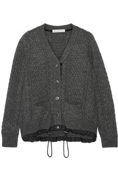 Sacai | Sacai Luck cable-knit wool cardigan | NET-A-PORTER.COM