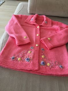 Knitting For Kids, Baby Knitting, Baby Sweaters, Knitting Patterns, Knit Crochet, Girls Dresses, Embroidery, Children, How To Make